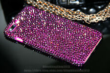 Bling Purple Diamond Real Crystal Case Cover Skin For iPhone 5 5s SE 6 6s 7 Plus