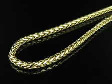 Mens Ladies 10K Yellow Gold 3.5 MM Palm Wheat Chain Necklace 22-30 Inches