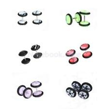 6 CHOICES 16G FAKE Ear Cheater Expander TUNNEL Plug Taper Stretcher Earring Stud