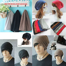 NEW 6 Colors Funky Comfy Cool with Metal Ring Punk Women Men Beanie Hat CaP LOT