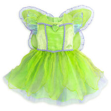 Disney Store Tinkerbell Deluxe Costume w/ Wings Baby Size 3 6 12 18 24 Months