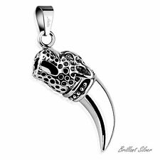 Men's Chain Pendant Stainless Steel Solid Leopard Tiger Tooth Gothic Pendant