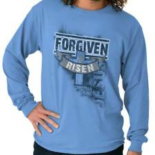 Forgiven And Risen Christian T Shirts Jesus Christ Gift Ideas Long Sleeve Tee