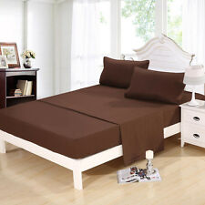 1800 Count Comfort 4Piece Twin Full Queen Cal King Bed Sheet Set Bedding Coffee
