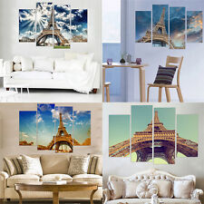 Eiffel Tower Canvas Art Oil Painting Wall Art Decorative Picture No Frame 4 Pcs