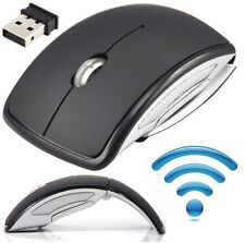 US 2.4GHz 3D Wireless Arc Foldable Folding Optical Usb Cordless Mouse for Laptop