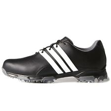 NEW MEN'S ADIDAS PURE TRX BLACK/WHITE GOLF SHOES F33238/F33315 -PICK WIDTH/SIZE