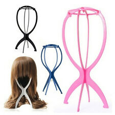 Folding Plastic Stable Durable Wig Hair Hat Cap Holder Stand Display Tool FJ