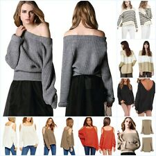 Womens Lady Sexy Batwing Sleeve Knitted Sweater Tops Loose Cardigan Outwear Coat