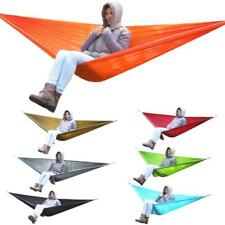OUTDOOR HANGING GARDEN CAMPING DOUBLE TRAVEL PARACHUTE HAMMOCK CHAIR BED + SACK