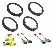 """4 (2 pair) 6.5"""" Car Speaker Adapter Combo for some Civic TL TSX Accord CRV CRZ"""
