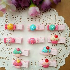 10pcs/lot cute Ice cream/candy Kids Girls baby Toddler Hair Clips Barrettes