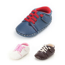 Baby Boys Toddler Shoes Newborn Kid Crib Anti-slip Pram Sneaker Shoes 0-18Months