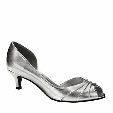 Touch Ups Abby Silver Gold Peeptoe Pump Mother of the Bride Groom, Bridal Shoes
