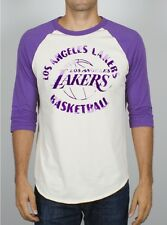 Los Angeles LAKERS Raglan T-Shirt by Junk Food -- New NWT Men's Large 50% off!