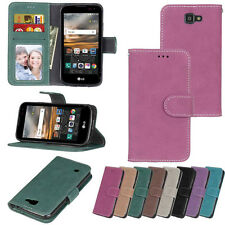 Photo ID Slots Wallet Leather Flip Case Cover For LG K7/K8/K10/LS450/LS775/H740