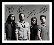 KINGS OF LEON AUTOGRAPHED SIGNED & FRAMED PP POSTER PHOTO