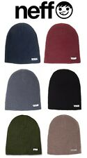 NEFF MEN'S DAILY COLD WEATHER / SNOW / SKI BEANIE, MULTIPLE COLORS! BRAND NEW!