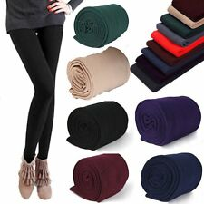 Womens Warm Skinny Slim Leggings Stretchy Pencil Pants Thick Footless Trousers