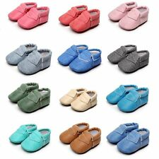 Toddler Baby Shoes Kids Moccasin Infant Boy Girl Soft Sole Leather Shoes 0-30 M