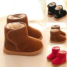 Baby Infant Child Boys Girls Warm Snow Boots Fur Winter Toddler Crib Shoes 1-6Y