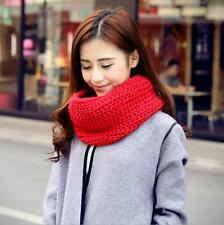 Women Scarf Warm Knitted Fashion Kerchief Neck Circle Wool Blend Cowl Wool Scarf