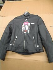 Icon Hella Leather Jacket Womens Black Showroom Sample
