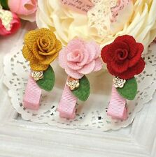 Korean Style Girls Princess Flower Hairpin Hair Clip Hair Accessories Party Gift