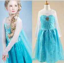 Girls Disney Elsa Frozen dress costume Princess Anna party dresses cosplay POP