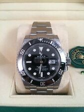 ROLEX STAINLESS STEEL SUBMARINER WITH DATE, MODEL # 116610 LN CERAMIC