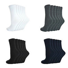 NEW GIRLS BOYS UNISEX CHILDRENS KIDS PLAIN COTTON MIX ANKLE SOCKS BACK TO SCHOOL