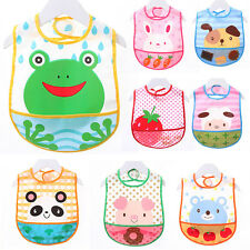 Infants Baby Cartoon Bibs Bandana Saliva Apron Waterproof Feeding Towel Toddler