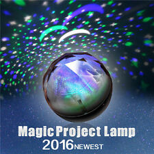 Portable Magic Project Lamp Diamond Shape 3 Color Changing LED Star Projector