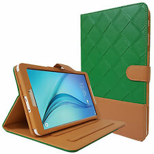 FLIP REAL LEATHER FOLIO STAND CASE COVER SAMSUNG GALAXY TAB A 9.7 AND Tab E 9.6
