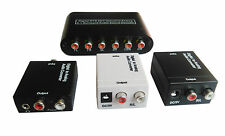 Digital Optical Toslink Coaxial to Analog S/PDIF L/R Audio RCA Converter Adapter