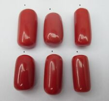 14.61~26.43Cts Big Huge Natural Red Italian Coral Oval Cabochons Gemstone
