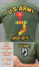 Army  POW MIA - Vietnam Map Shirt