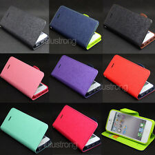 Deluxe Wallet Leather Flip Tpu Case Cover Stand For iPhone 4S/5C/5S/6/6S/6 Plus
