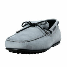 Tod's Men's Gray Leather Boat Shoes Sz 7 11 11.5
