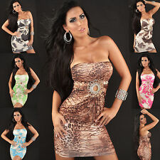 New Top Women Clubbing Bandeau Mini Dress Sexy Ladies Party Blouse Size 8 10 12