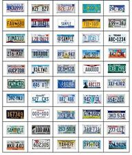Expired State License Plate