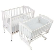 BreathableBaby Breathable Bumper for Portable and Cradle Cribs, White