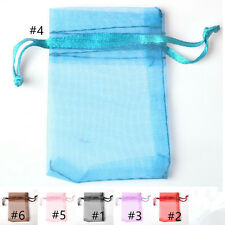 100PCS Organza Candy Jewellery Pouch Party Wedding Favor Bag XMAS Gift Bag 7x9cm