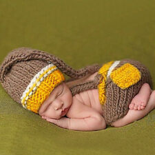Newborn Baby Boys Girls Crochet Knit Costume Prop Outfits Photo Photography Gift