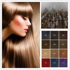 """18""""20"""" Micro Ring Beads Loop Tipped 100% Remy Real Human Hair Extensions 50S 25G"""