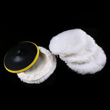 DIY Polisher Buffer Soft Wool Pad Bonnets w/ Wheel Polishing Buffing
