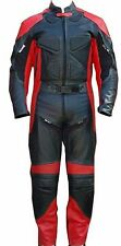 2pc Motorcycle Racing Riding Leather Track Suit w/ Armor & Padding New Red/Black