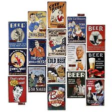 Antique Drinking Tin Metal Signs Decor Home Pub Bar Wall Retro Cafe Art Poster