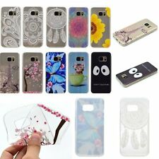 THIN FASHION Soft Rubber Back TPU GEL RUGGED Case Cover For Samsung Galaxy Phone