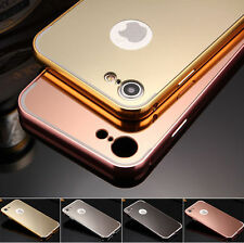 Luxury Mirror Back Aluminum Metal Bumper Case Cover for Apple iPhone 7 6 6s Plus